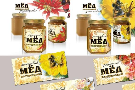 этикетка на мед образец - фото 7