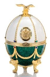 Carafe in Pearl and Emerald Faberge Egg